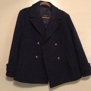 TALBOTS Women's Double Breasted Pea Coat